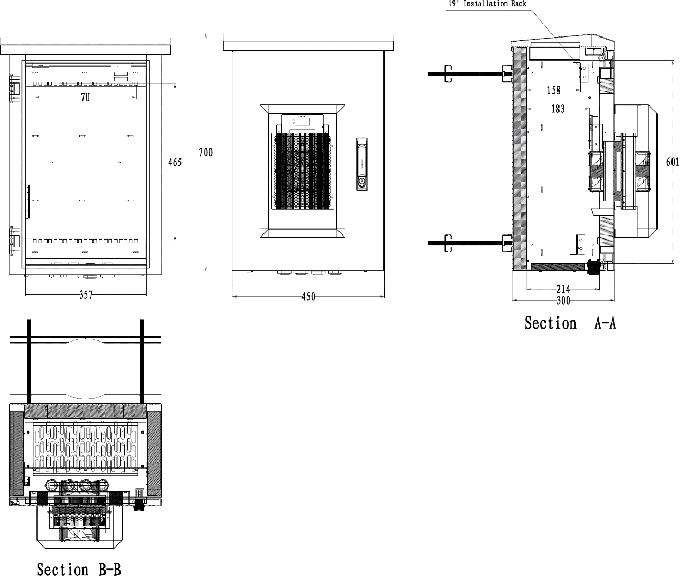 sandwich structure steel pole mount cabinet outdoor