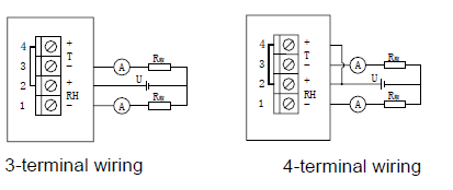 4 Terminals Wiring Temperature & Humidity Transmitter -20°C - 80°C Operating Temperature