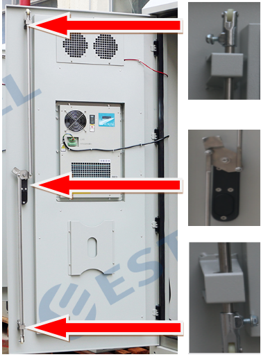 Outdoor Power Cabinet / Battery Enclosure / IP55 19inch Rack Base Station Enclosure