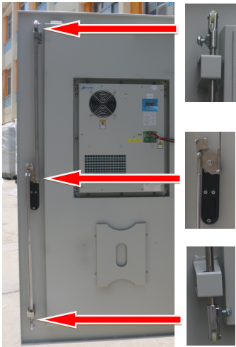 IP65 Outdoor Telecom Cabinet With Front And Rear Door