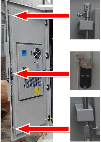 Two Compartments Base Station Cabinet Outdoor Telecom Cabinet