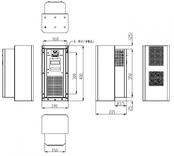 700btu Telecom Outdoor Enclosure Air Conditioner 500w