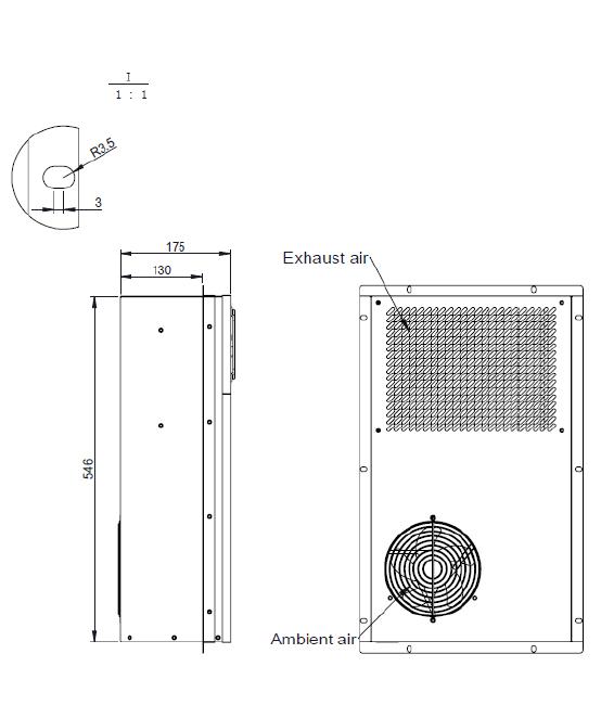 AC110V 60Hz 600W Cabinet Type Air Conditioner MODBUS RTU Communication  Protocol , LED Dispaly