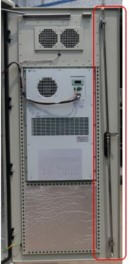 Single Wall Heat Insulation 38U Outdoor Telecom Enclosure 750x700x2000 With DC Air Conditioner