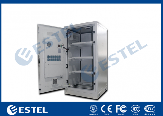 Aluminum Outdoor Battery Cabinet One Front Door For Telecom Station