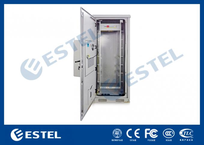 Thermostatic Outdoor Telecom Cabinet Enclosure IP65 33U Galvanized Steel Material