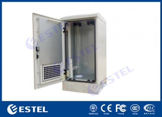 "20U Outdoor Equipment Enclosure , IP55 Fan Cooling Reet Cabinets Telecoms 19"" Rail"