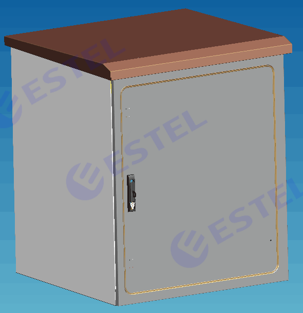 Natural Ventilation Pole Mount Enclosure For Equipment Battery / Small Outdoor Box