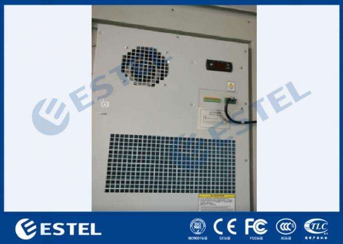 Two Air Conditioners Cooling 42U Outdoor Equipment Cabinet