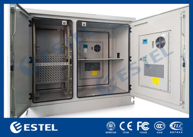 Telecommunication Base Station Cabinet , Outdoor Electrical Cabinets Two Bay ET1678140