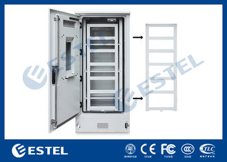 Double Wall Three Shelves Telecom Outdoor Cabinet Sunproof ISO9001 CE Certification