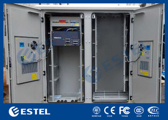 IP55 Base Station Cabinet , Outdoor Data Cabinet With Rectifier System PDU