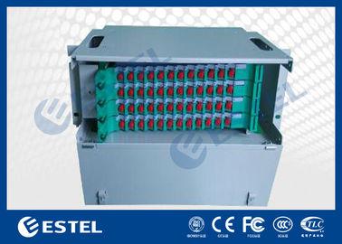 Custom 72 Cores Fiber Optic Distribution Frame For 19 Inch Rack Enclosures