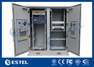 China Two Compartments Base Station Cabinet Outdoor Telecom Cabinet supplier