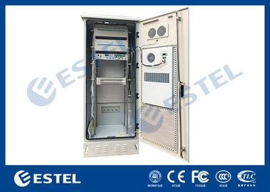 China Single Wall Stainless Steel Heat Insulation 38U Outdoor Telecom Cabinet 750x700x2000  With DC Air Conditioner supplier