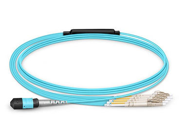 Duplex 8 Single Mode Fiber Patch Cables LC UPC Multimode Fiber Optic Breakout Cable