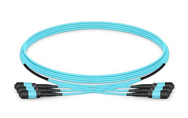 OM3 Multimode Fiber Optical Patch Cord 12 Strands MTP Trunk Cable 3.0mm