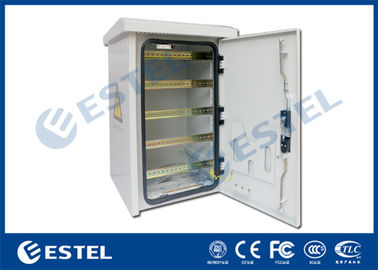 China DIN Rail Outdoor Pole Mount Enclosure Three - Point Lock With Fan Cooling supplier