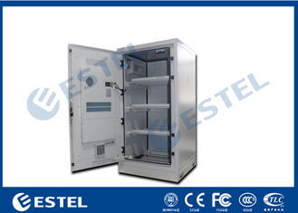 China Aluminum Outdoor Battery Cabinet One Front Door For Telecom Station supplier