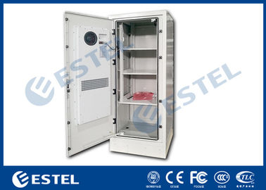 Four Point Lock Outdoor Power Cabinet , Galvanized Steel Outdoor Electrical Enclosure