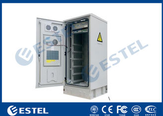 China IP55 32U Outdoor Cabinet Air Conditioner Cooling / 19 Inch Rack Mount Double Wall Base Station Cabinet supplier
