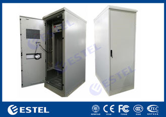 Heat Insulated Single Wall Steel Outdoor Telecom Cabinet With DC Air Conditioner, Power distribution Unit