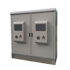 Rainproof Two Compartment Base Station Cabinet Aircon Cooling IP55 For Commmunication Equipment Outdoor Appalication