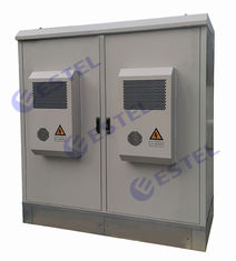 Rainproof Two Compartment Base Station Cabinet Aircon Cooling IP55 For Commmunication Equipment