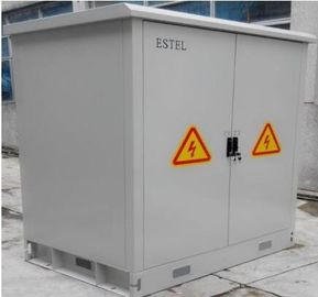 China Double Wall Steel Outdoor Battery Cabinet IP55 Base Station Closure 3 Battery Shelves supplier