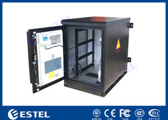 China Heat Insulated Wall Mount Steel Outdoor Telecom Cabinet With Air Conditioner Cooling supplier