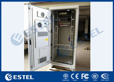 IP55 Outdoor Power Cabinet Galvanized Steel PDU Battery ODF DCDU With Air Conditioner