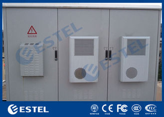 IP55 Outdoor Power Cabinet Three Bay Telecommunications Shelter With Air Conditioner Cooling