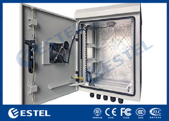 China DC 48V Cooling Fans Outdoor Telecom Cabinet With Anti Theft Three Point Lock supplier