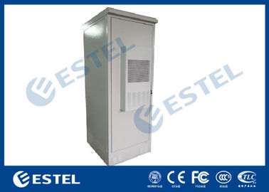 Air Conditioner Integrated Telecom Outdoor Cabinet Galvanized Steel With Three Battery Layers