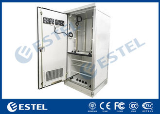 Fans Cooling Outdoor Telecom Cabinet Steel IP55 Double Wall With Heat Insulation