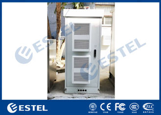 China Two Air Conditioners Cooling 42U Outdoor Equipment Cabinet supplier