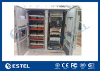 China Reasonable Layout Assembled Base Station Cabinet Outdoor Rack Enclosure With Battery Compartment company