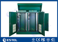 Stainless Steel IP65 Outdoor Rack Cabinet Dual Bay Integrated With Intelligent Thermal Management