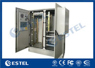 Two Bay Structure Outdoor Telecom Cabinet Galvanized Steel PEF Heat Insulation