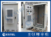 Single Wall 40U Outdoor Telecom Cabinet Galvanized Steel Front And Rear Access