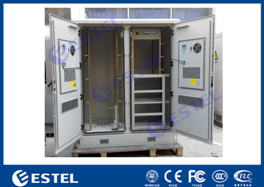 China Two Compartment Outdoor Telecom Enclosure Air Conditioner Cooling IP55 With PDU factory