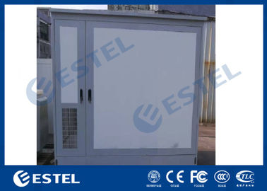 China Double Bay Air Conditioner Cooling Outdoor Telecom Enclosure IP55 With Two Doors factory