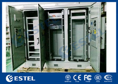 China Triple Bay Racking Outdoor Telecom Enclosure With Air Conditioner Cooling System factory